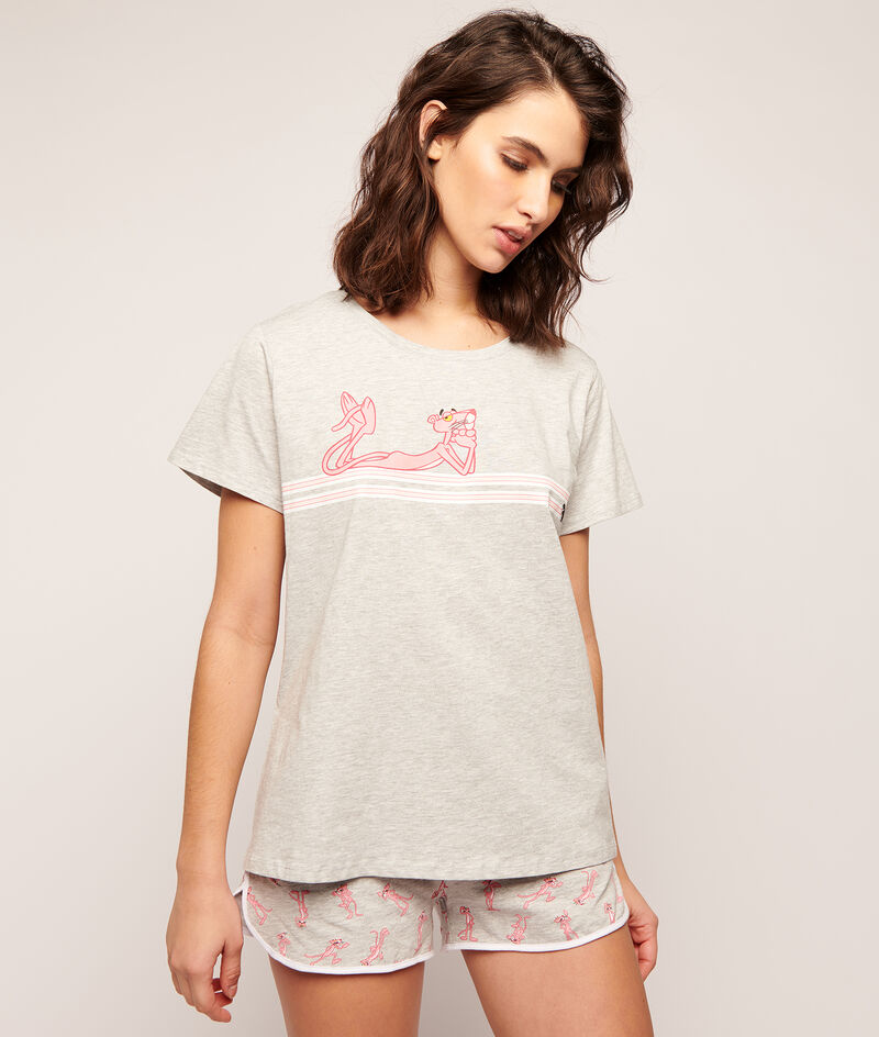 T-shirt Panthère Rose;${refinementColor}