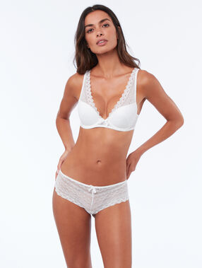 Soutien-gorge n°3 - triangle push-up, bonnets a/b/c blanc.