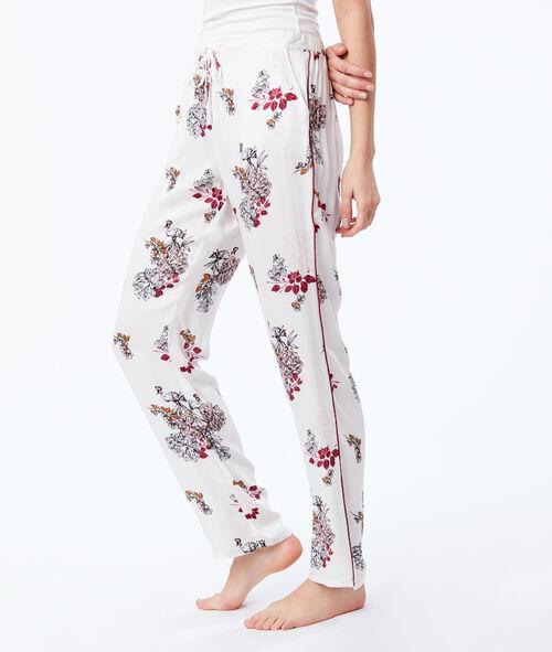 Pantalon large noué à imprimé floral Etam Etam Nuit > MODÈLES > Bas de Pyjama > Pantalons