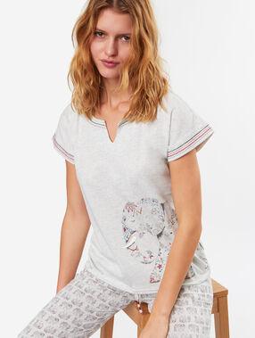 T-shirt blanc.