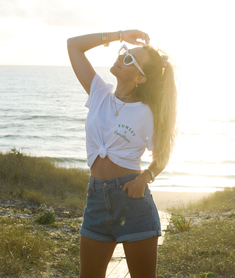"""T-shirt """"Sunset & Coquillage"""";${refinementColor}"""