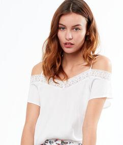 Top épaules dénudées blanc.