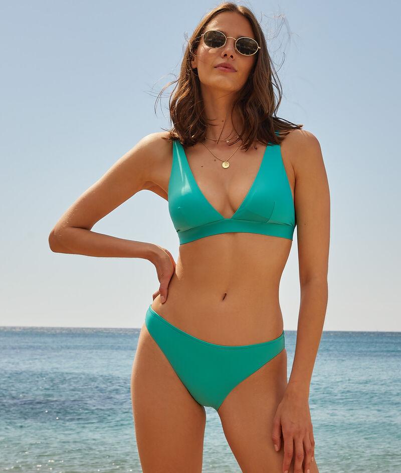 Hoog triangel-bikinitopje, zonder beugels;${refinementColor}