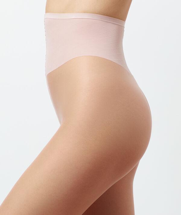 Collant voile effet jambes nues, bouts ouverts;${refinementColor}