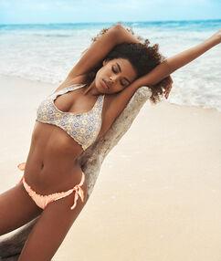 Bas de bikini brésilien - high leg corail.