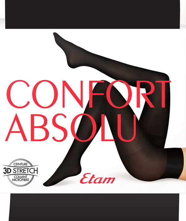 Collant opaque confort absolu ceinture ajustable - 100D;${refinementColor}
