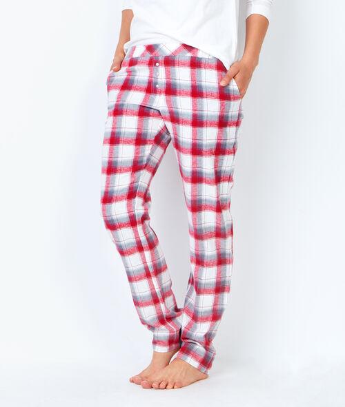 Pyjama 3 pièces chouette pantalon à carreaux et veste toucher polaire