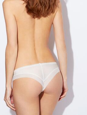 Hipster microvezel en kant, voelt aan als een tweede huid blanc.
