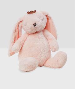Opberger voor pyjama konijn roze.