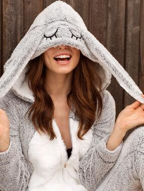 Combinaison lapin gris.