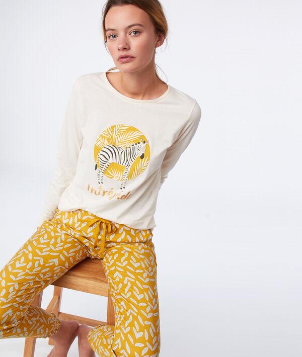 T-shirt met lange mouwen en 'fearless' opschrift;${refinementColor}