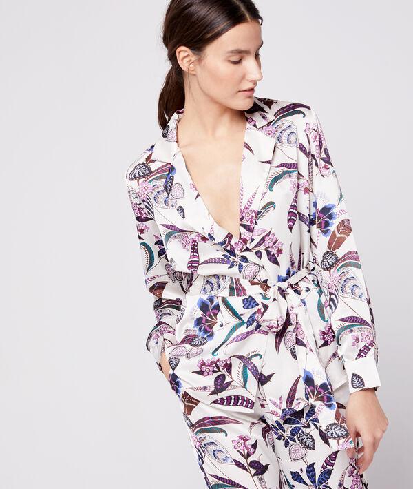 Chemise de pyjama ceinturée;${refinementColor}
