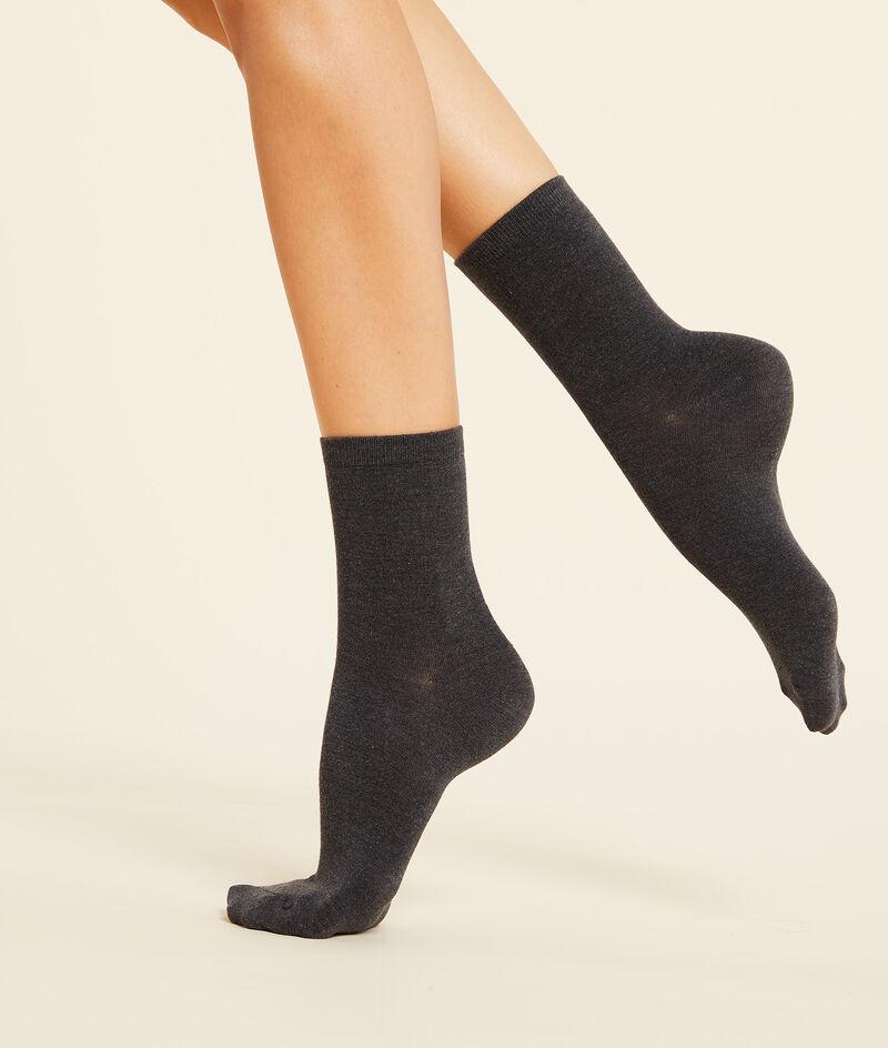 Lot de 2 paires de chaussettes matière thermique;${refinementColor}