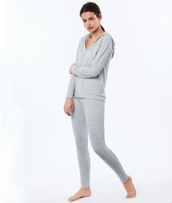 Sweatshirt grijs gespikkeld homewear