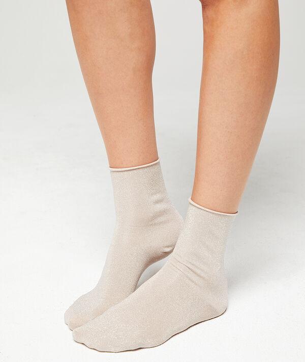 Korte sokjes met metallic weefseldetail;${refinementColor}