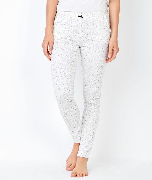 Pyjama 3 pièces, pantalon imprimé et veste toucher polaire