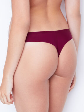Tanga bordeauxrood.