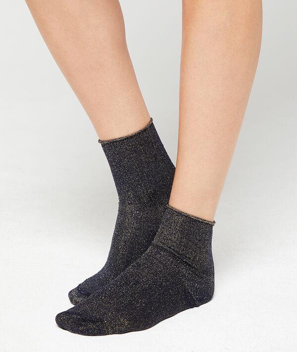 Sokken met gemetalliseerde draad;${refinementColor}
