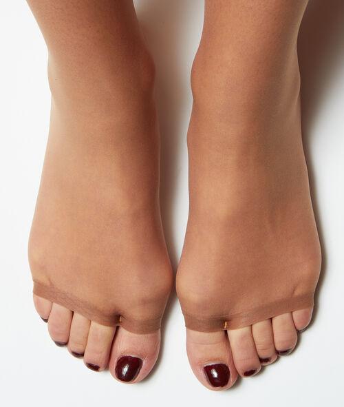 Panty voile geoliede blote-benen-look open teen