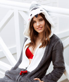 Combinaison pingouin gris.