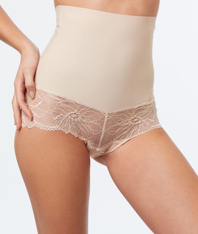 Culotte taille haute - niveau 3 : silhouette remodelée nude.