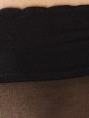 2 paires de socquettes voiles noir.