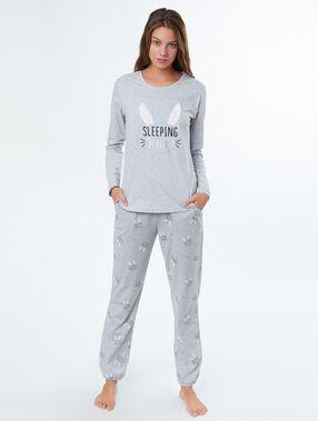 Pyjama 3 stukken ecru.