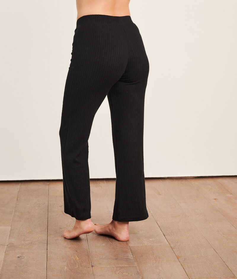 Loungewear ribgebreide broek;${refinementColor}