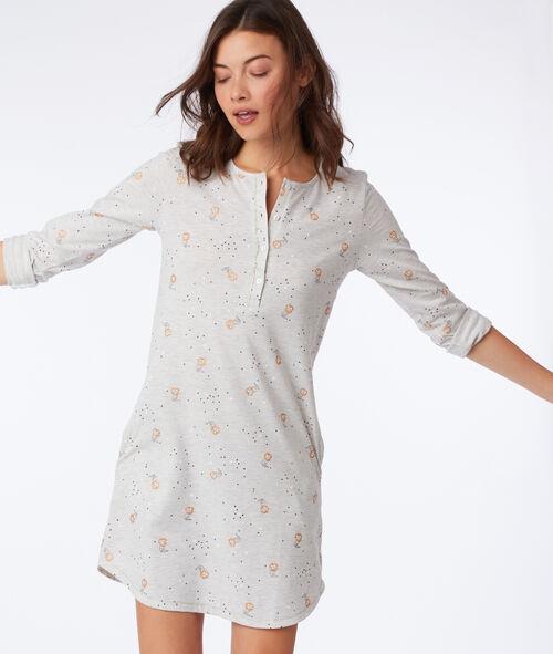 Chemise de nuit à motifs chat Etam Etam Nuit > MODÈLES > Chemises de Nuit