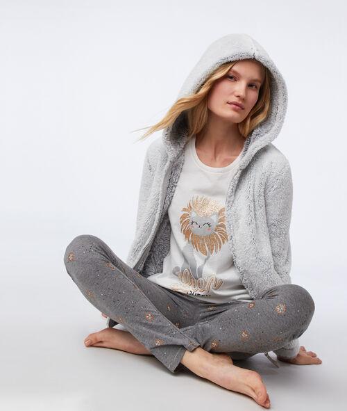 Pyjama 3 pièces chat 'lion queen' Etam Etam Nuit > MODÈLES > Pyjamas 3 pièces > Pyjamas 3 pièces