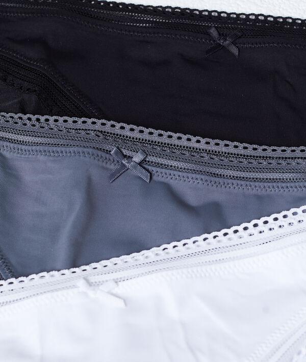 Lot de 3 culottes, bords ajourés