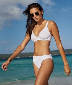 Bikinibroekje eenvoudig - multipositie wit.