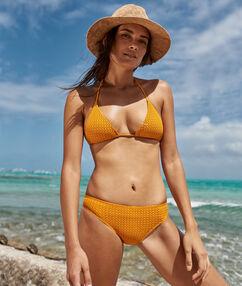 Bikini eenvoudig materiaal ocre.