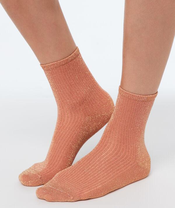 Chaussettes courtes métallisées;${refinementColor}