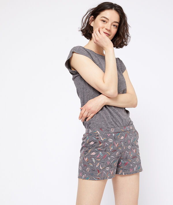 Shorts met pluimen;${refinementColor}