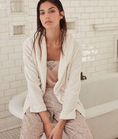 Pyjama 3 pièces beige.