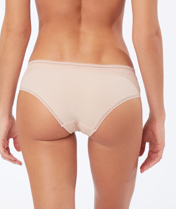 Shorty microfibre détails dentelle;${refinementColor}