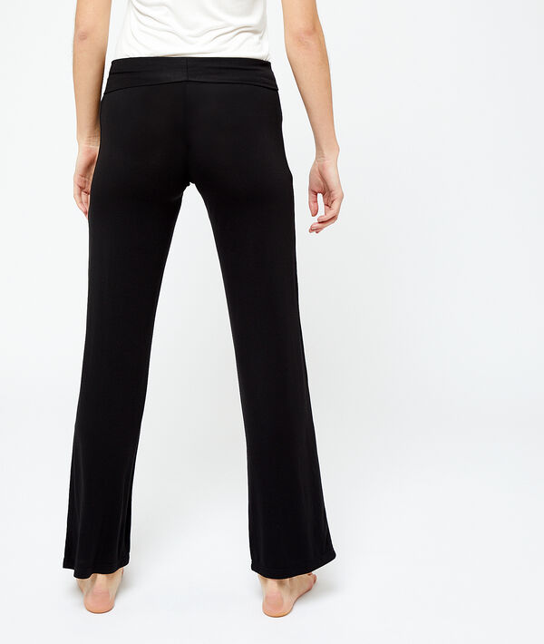 Soepele broek in viscose;${refinementColor}