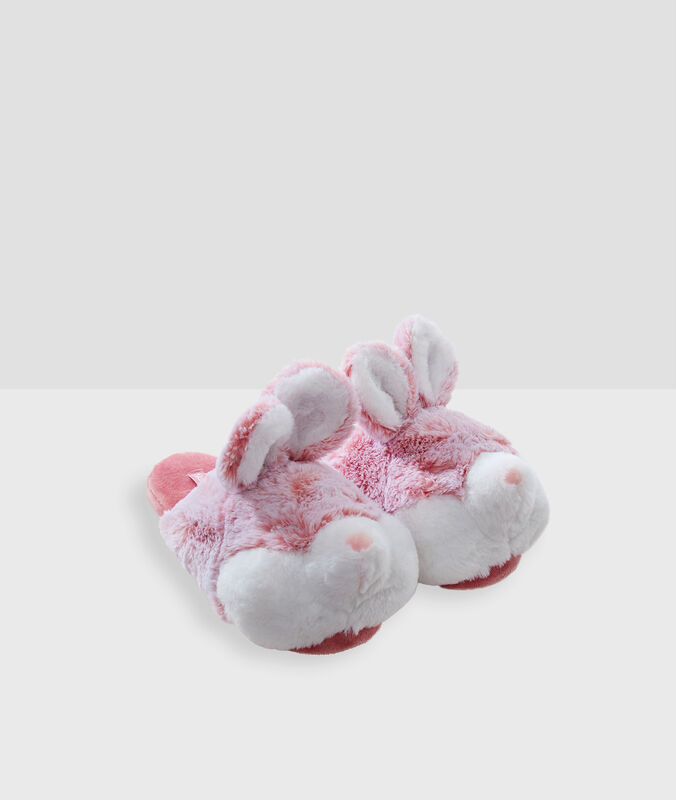 Chaussons lapins 3d rose.