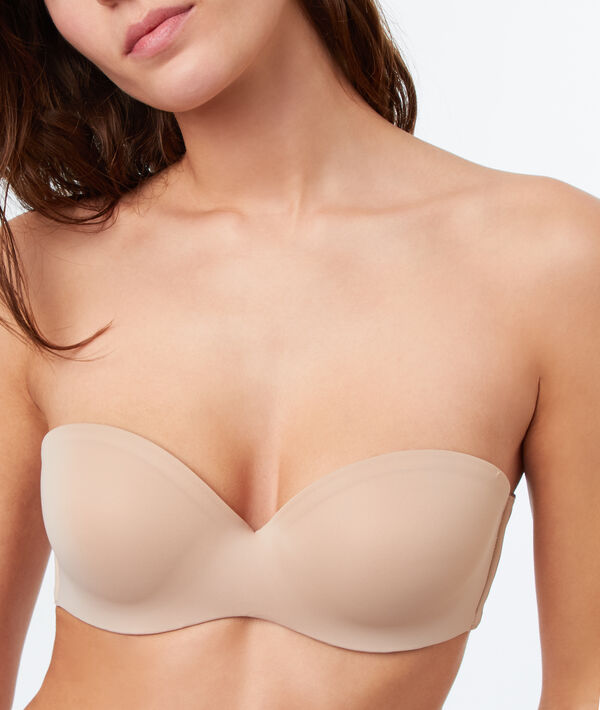 Strapless microvezel push up, afneembare schouderbandjes ;${refinementColor}