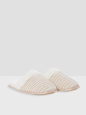 Pantoffels muiltjes ecru.