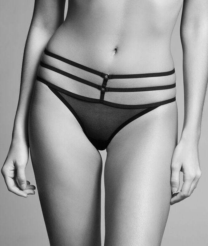 String tulle à lanières noir.