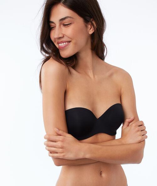 Strapless microvezel push up, afneembare schouderbandjes