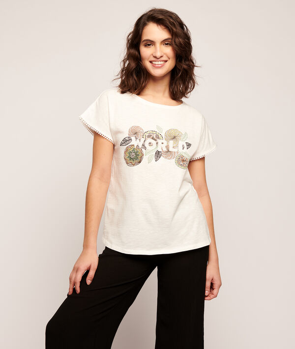 "T-shirt imprimé rosas ""World"";${refinementColor}"