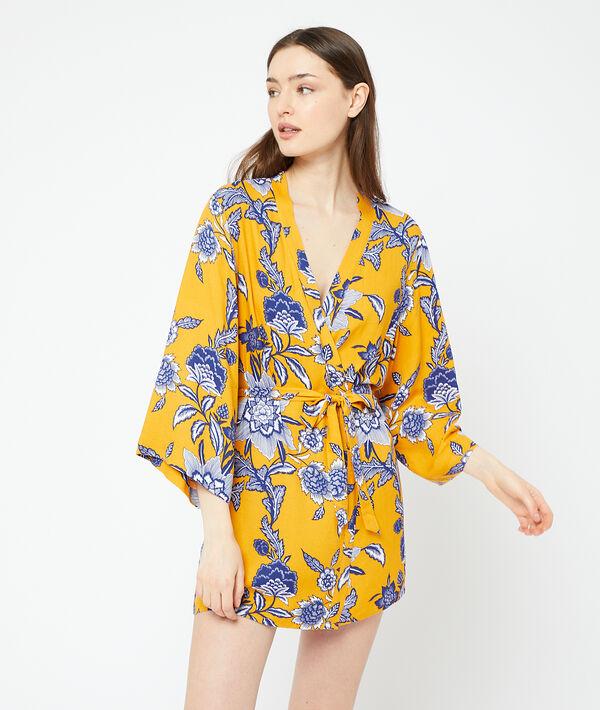 Kimono met print;${refinementColor}