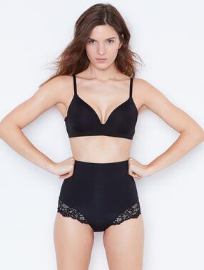 Culotte taille haute : niveau 3 - silhouette remodelée noir.