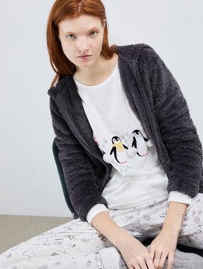 """Pyjama 3 pièces pingouin """"pom pom team"""" anthracite."""