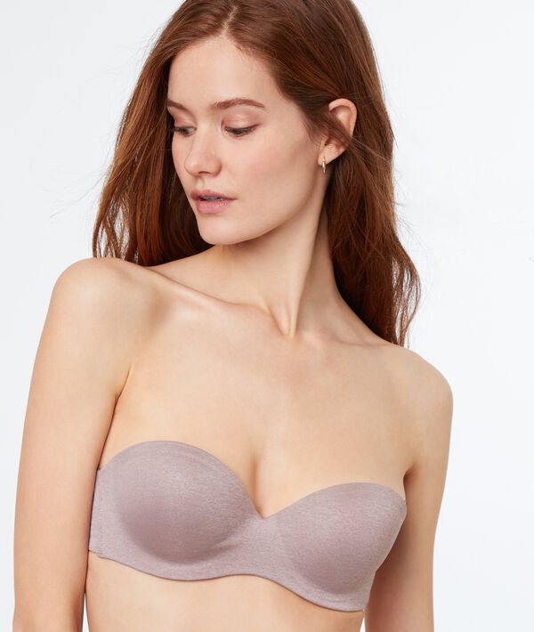 Bandeau push-up, bretelles amovibles, bonnet B;${refinementColor}