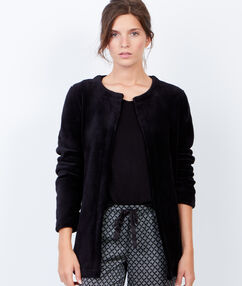 Veste doudou noir.
