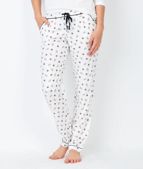 Pyjama trois pièces chouette , veste doudou